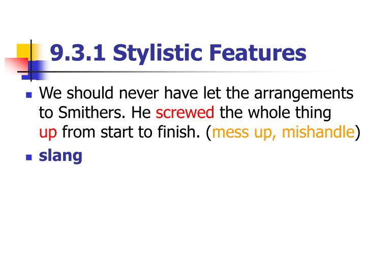 9.3.1 Stylistic Features