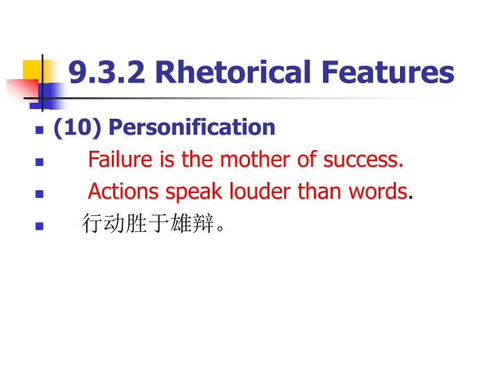 9.3.2 Rhetorical Features