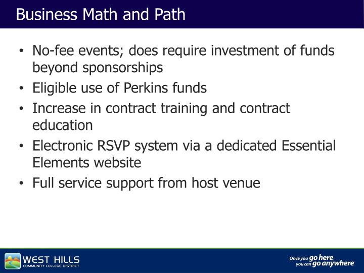 Business Math and Path