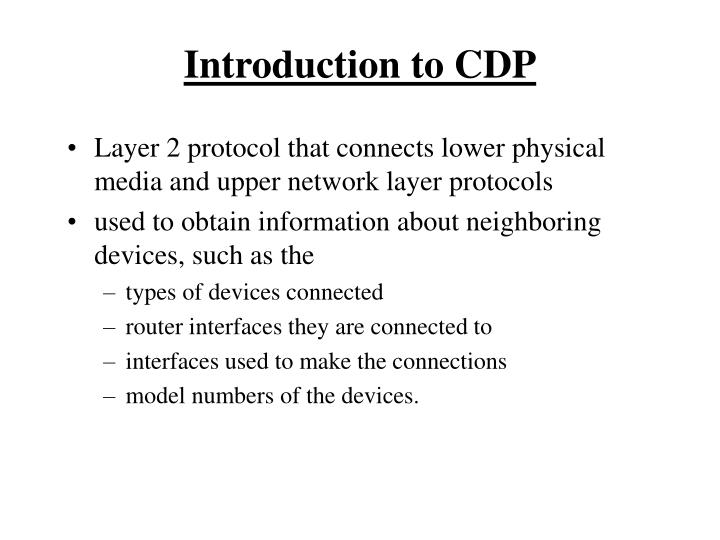 Introduction to CDP