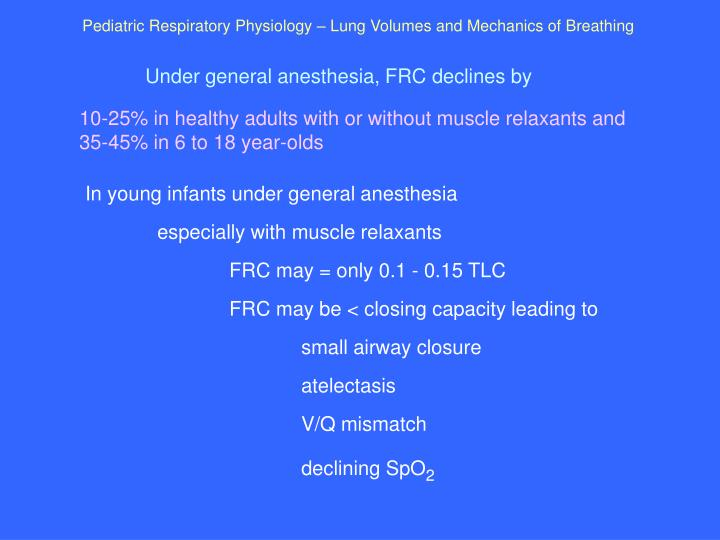 Pediatric Respiratory Physiology – Lung Volumes and Mechanics of Breathing