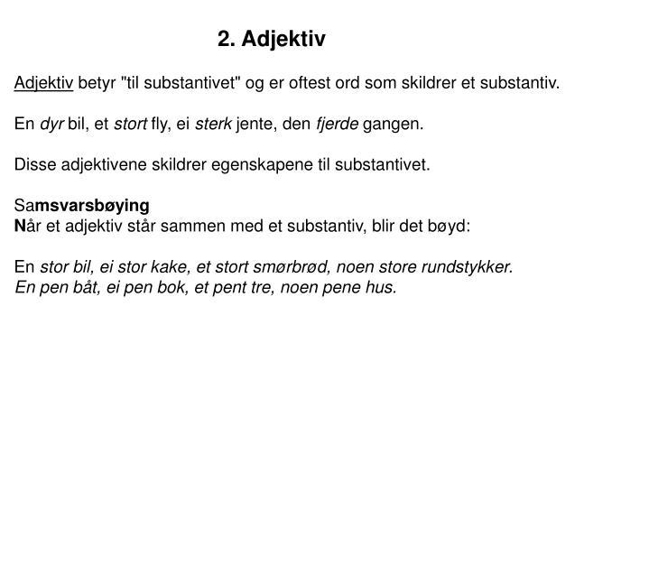 2. Adjektiv