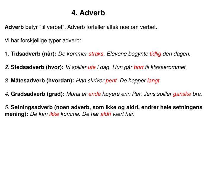 4. Adverb