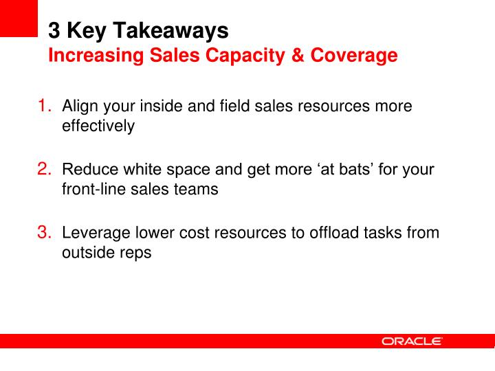 3 Key Takeaways