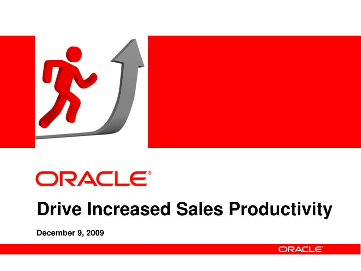 Drive increased sales productivity