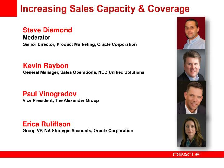Increasing Sales Capacity & Coverage