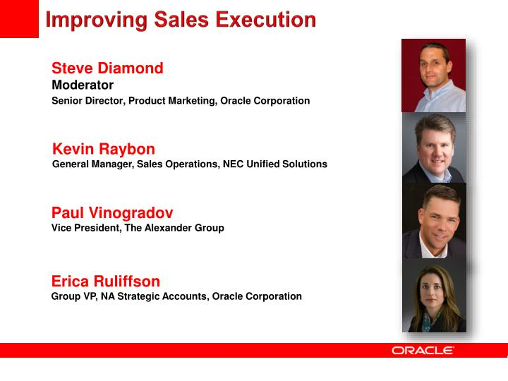Improving Sales Execution
