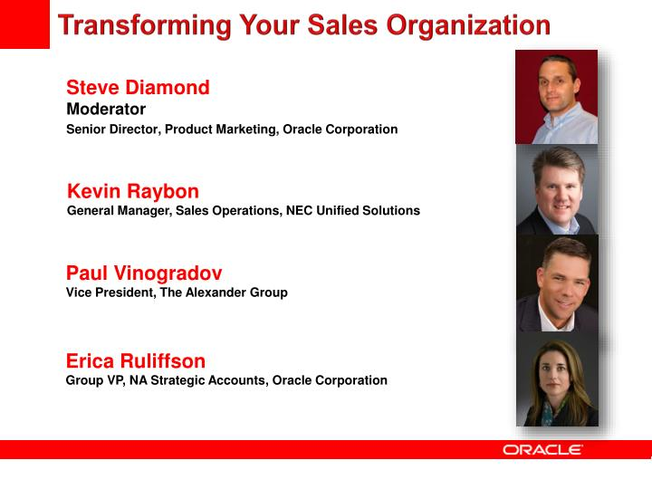 Transforming Your Sales Organization