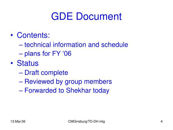 GDE Document