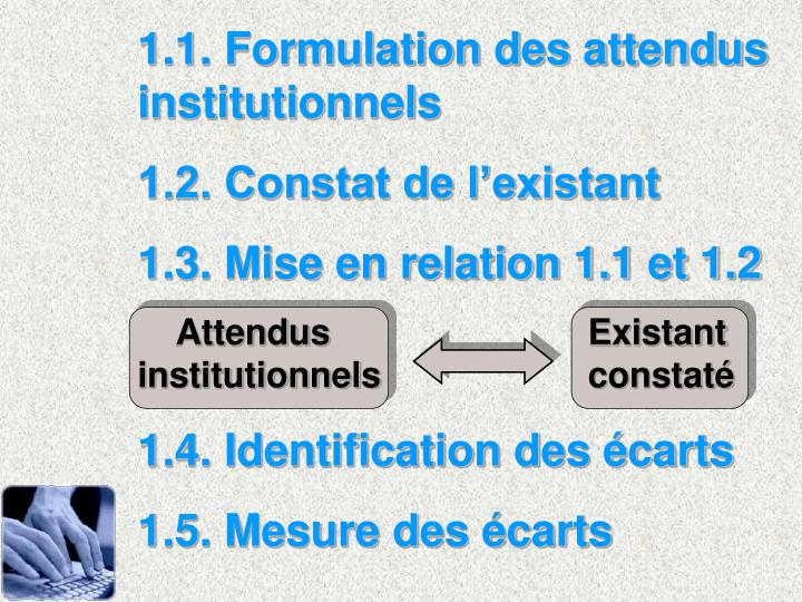 1.1. Formulation des attendus institutionnels