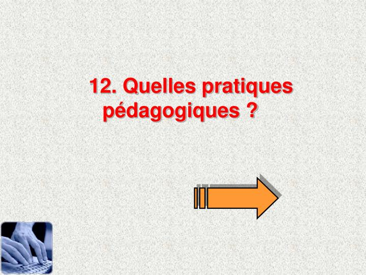 12. Quelles pratiques pdagogiques ?