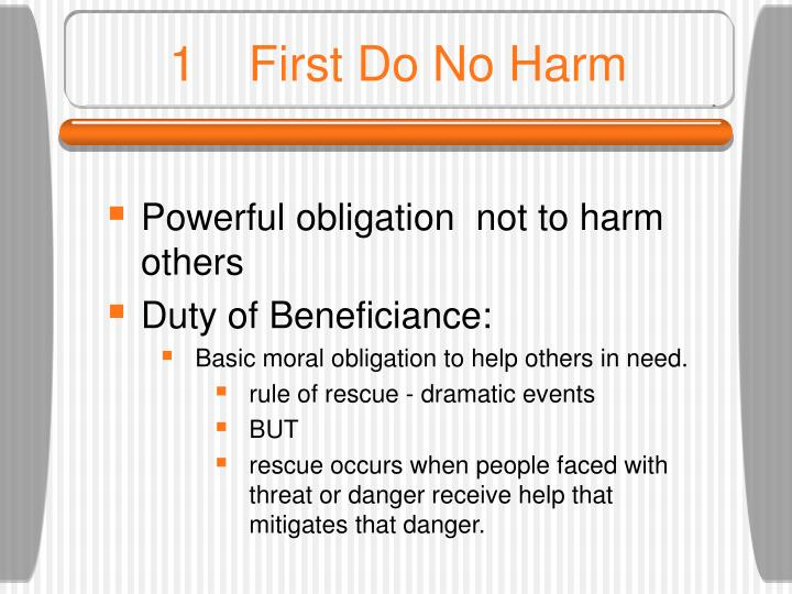 1First Do No Harm