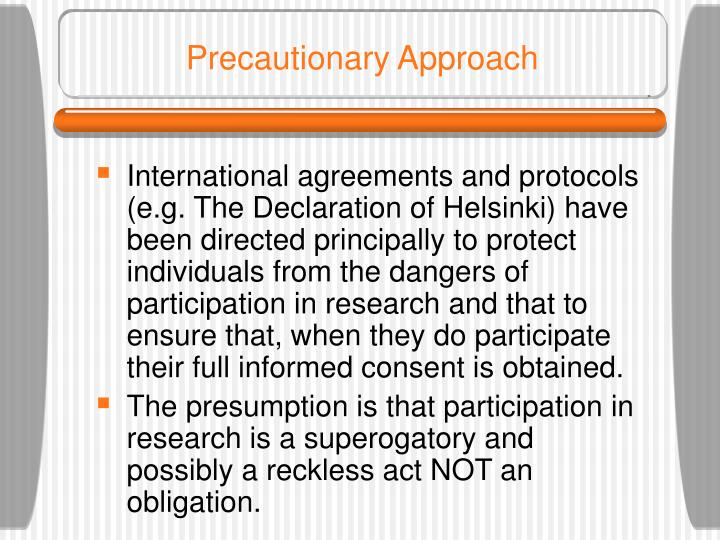 Precautionary Approach