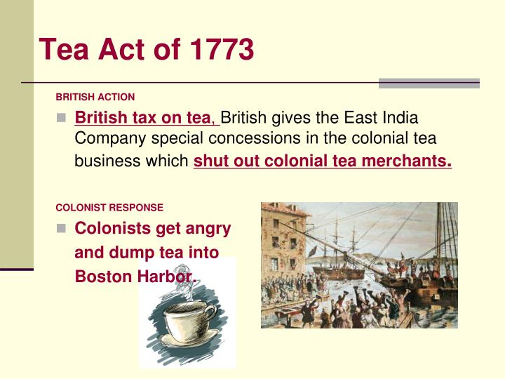 Tea Act of 1773