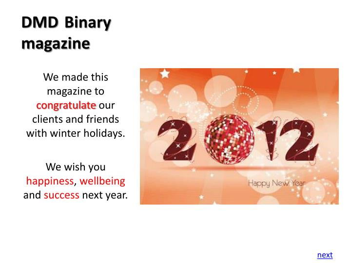 Dmd binary magazine1