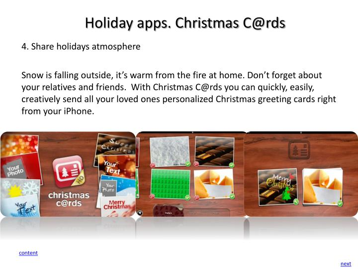 Holiday apps. Christmas