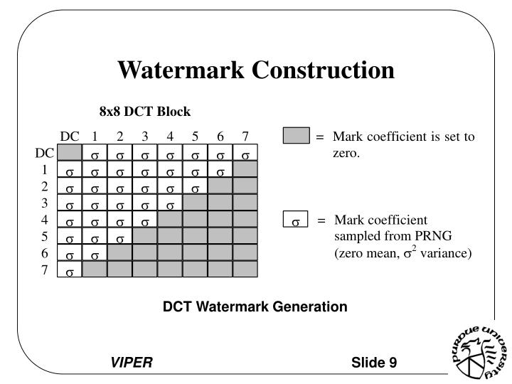 Watermark Construction