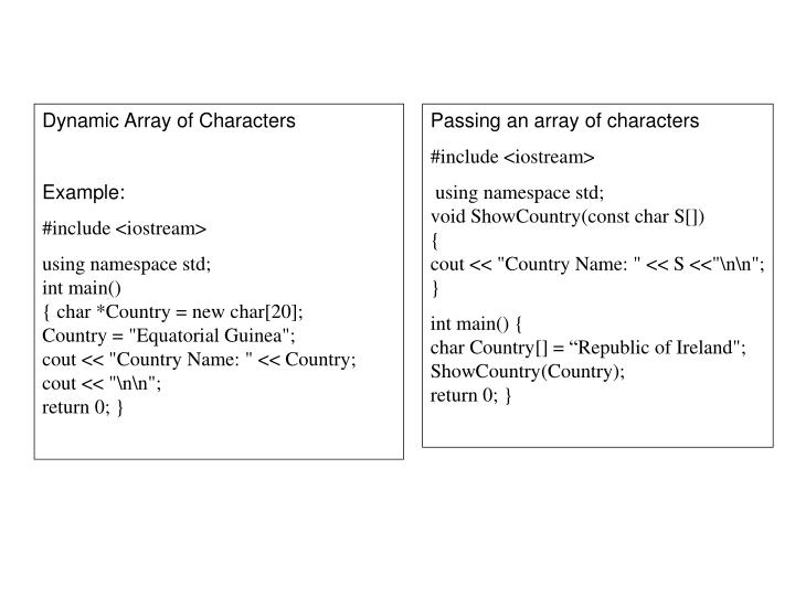 Dynamic Array of Characters