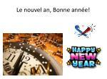 le nouvel an bonne ann e