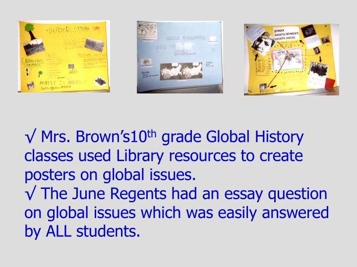 √ Mrs. Brown's10