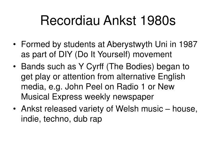 Recordiau Ankst 1980s