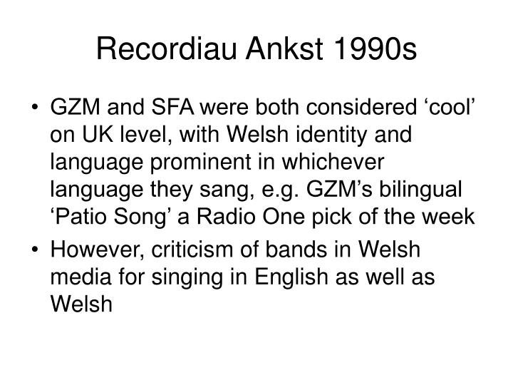 Recordiau Ankst 1990s