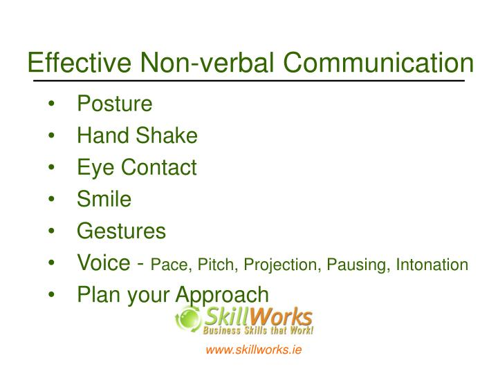 Effective Non-verbal Communication