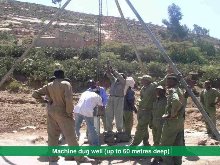 Machine dug well (up to 60 metres deep)