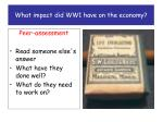 what impact did ww1 have on the economy6