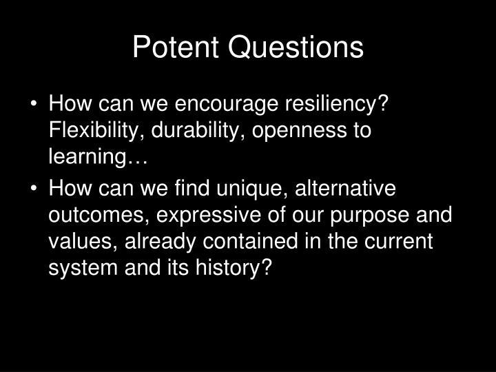 Potent Questions