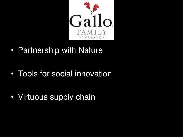 Partnership with Nature