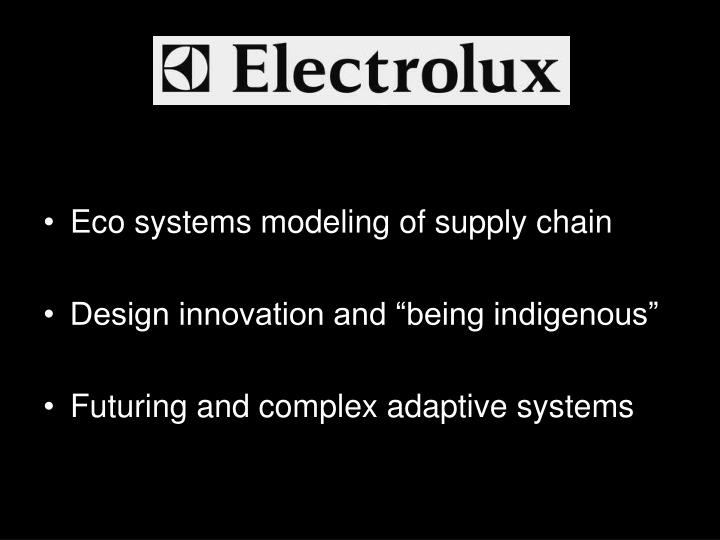 Eco systems modeling of supply chain
