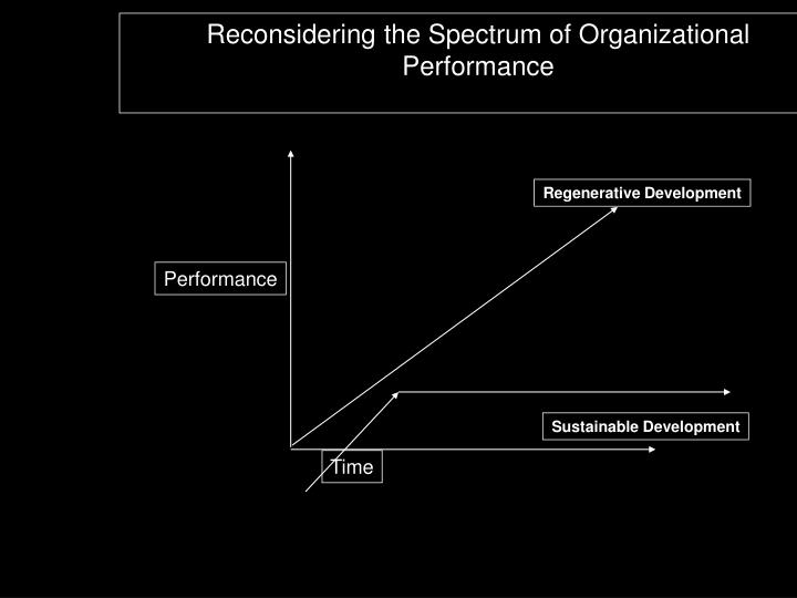 Reconsidering the Spectrum of Organizational Performance