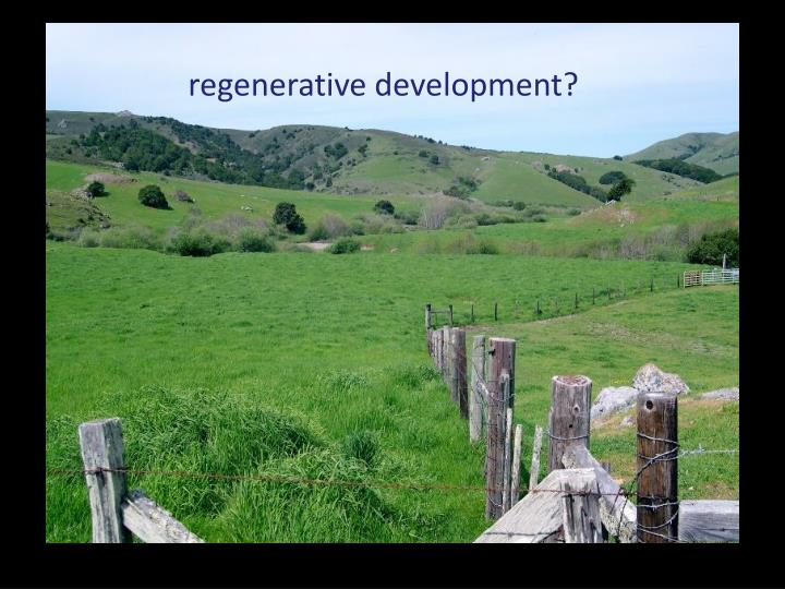 regenerative development?