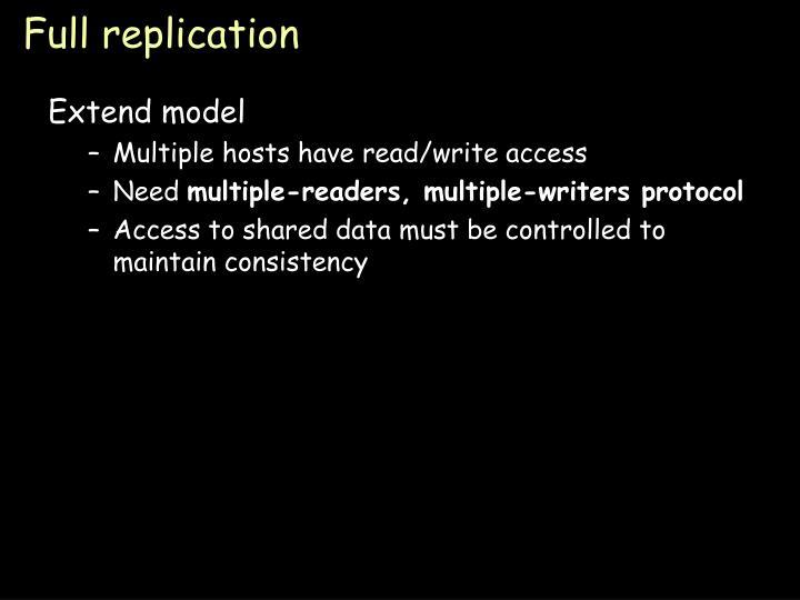 Full replication