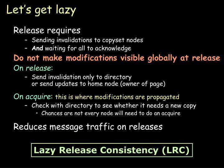 Let's get lazy