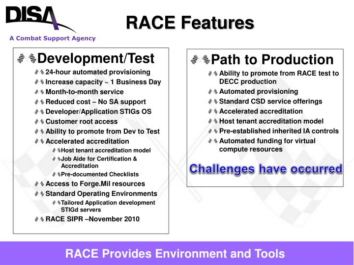 RACE Features
