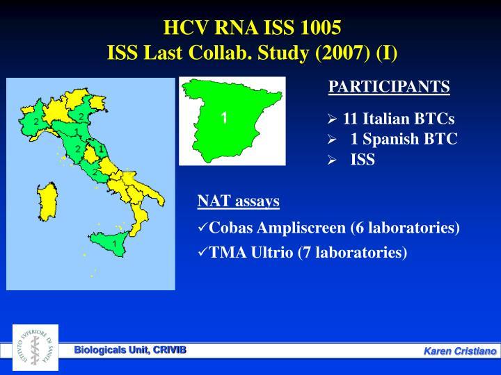 HCV RNA ISS 1005