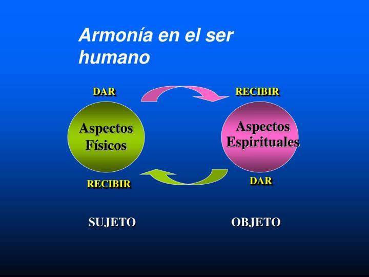 Armonía en el ser humano
