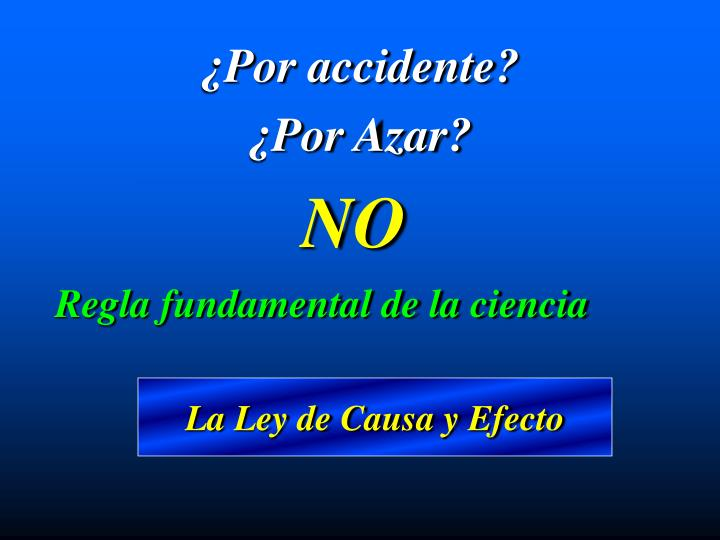 ¿Por accidente?