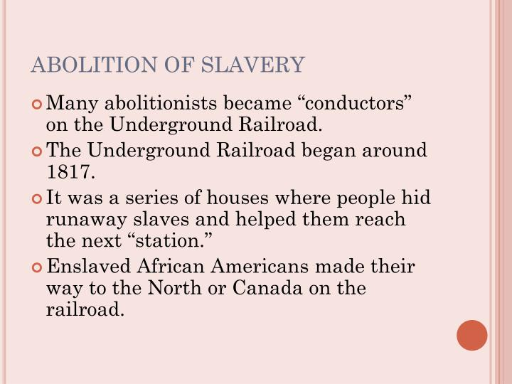 Need a paper written on antebellum slavery/ending of slavery
