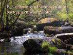 een zelfreinigend vermogen door bacteri n en waterplanten