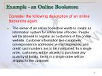 example an online bookstore
