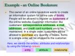 example an online bookstore2