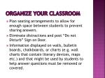 organize y our classroom