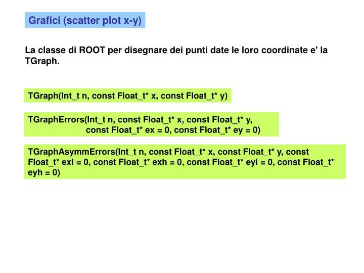 Grafici (scatter plot x-y)