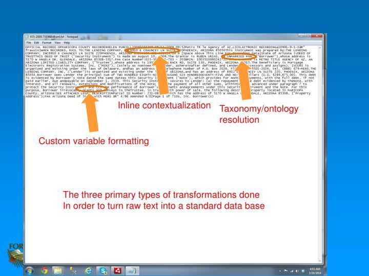 Inline contextualization