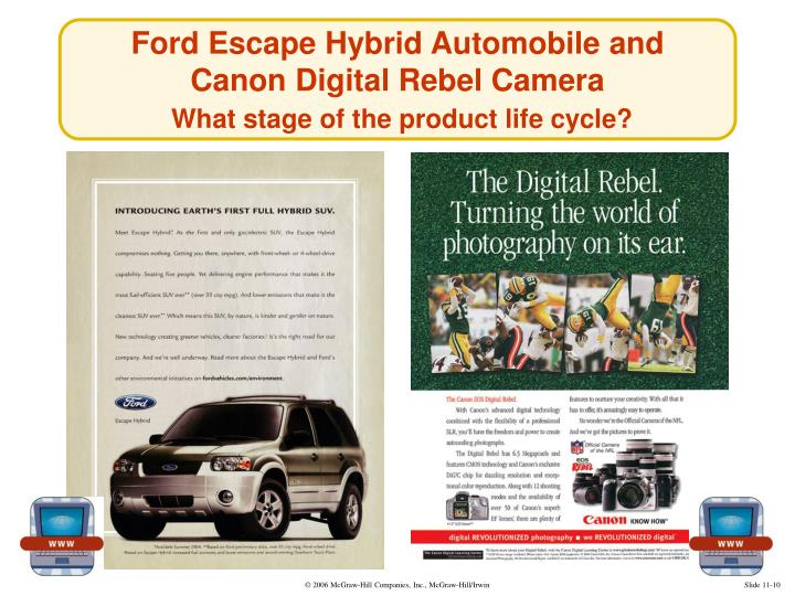 Ford Escape Hybrid Automobile and