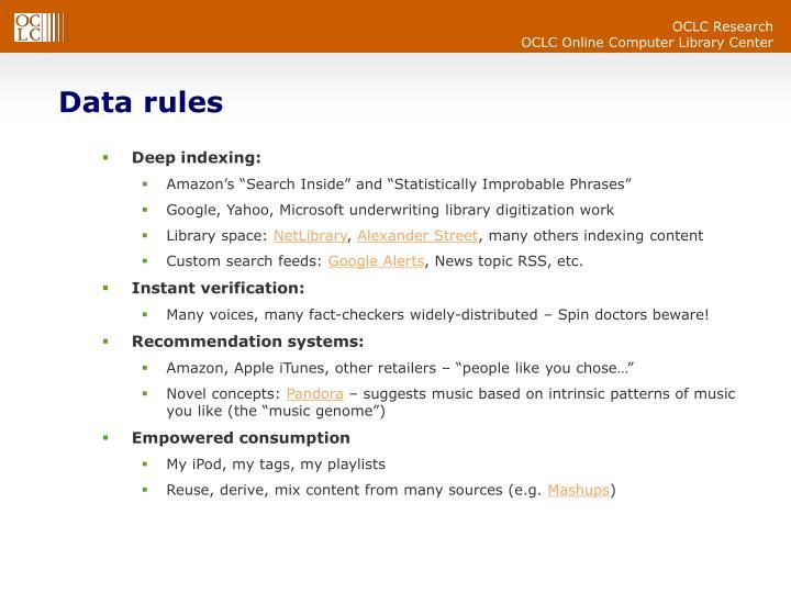 Data rules