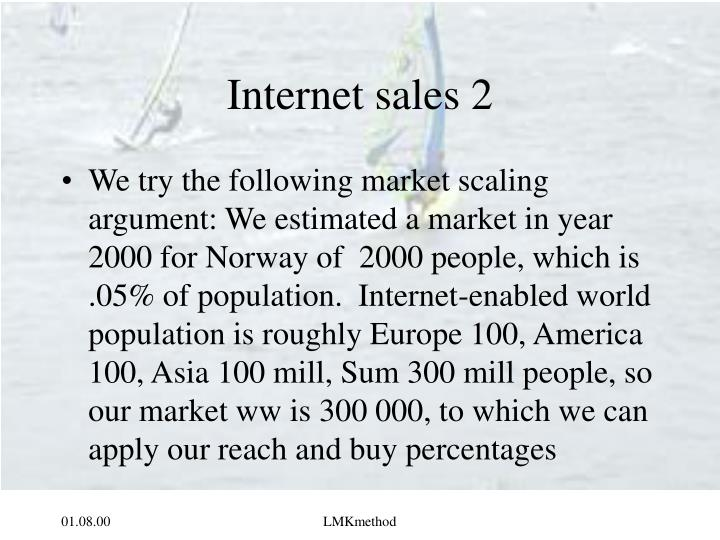 Internet sales 2